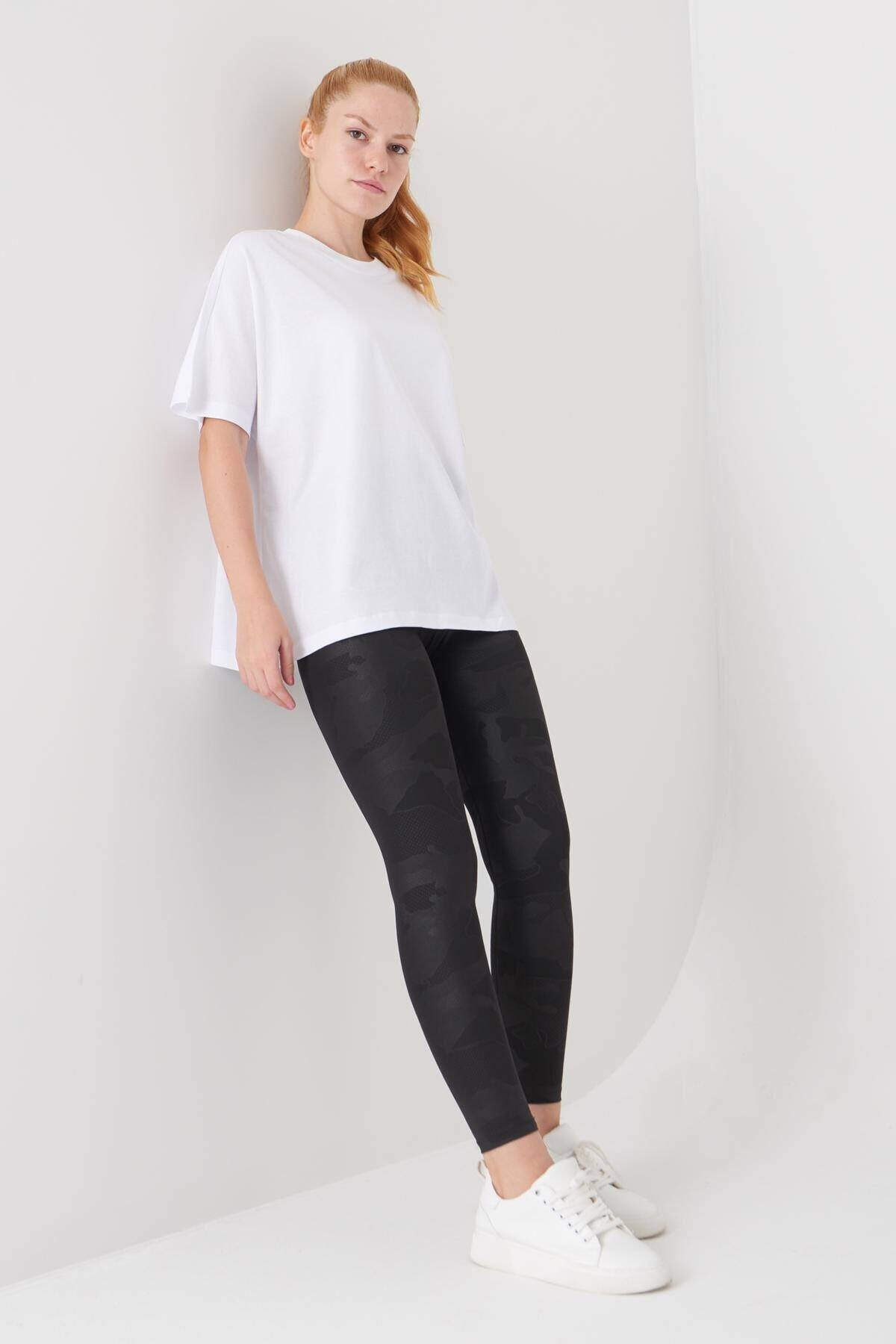 Addax Kadın Beyaz Oversize Basic Tişört P0730 - J6 - J7 ADX-0000020569 2