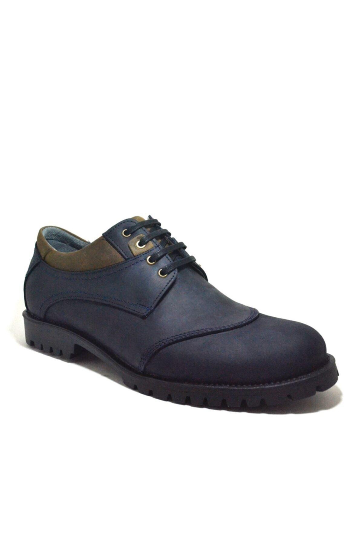 Tardelli Hakiki Deri Nubuk Büyük Numara Erkek Ayakkabı 1