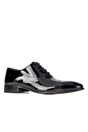 Cabani Bağcıklı - Erkek Ayakkabı Siyah Rugan
