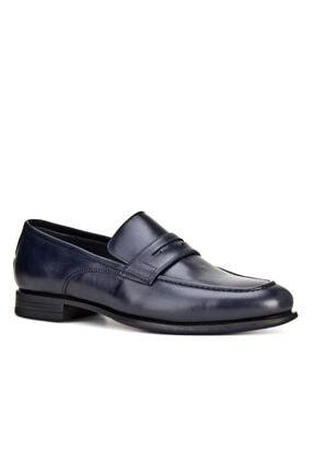 Cabani Lightgom Esnek Kauçuk Taban Bağcıksız - Erkek Ayakkabı Lacivert Deri