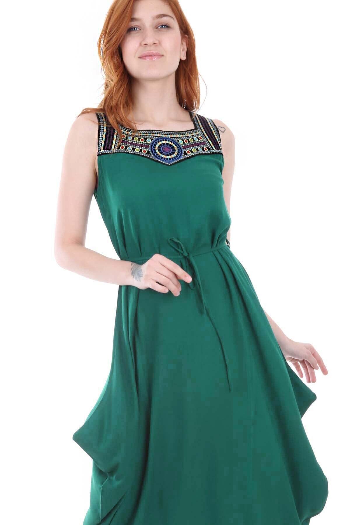 Bigdart 1512 Önü Nakışlı Elbise 1