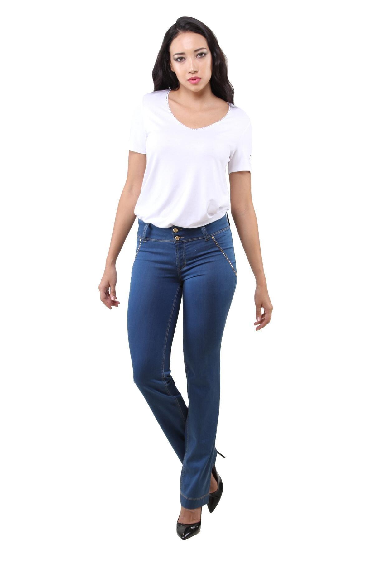 Dodona 1136 Mavi Yazlık Pantolon 1
