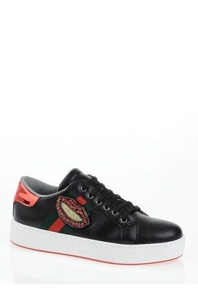 Derigo Siyah Dudak Kadın Casuel Ayakkabı 221701