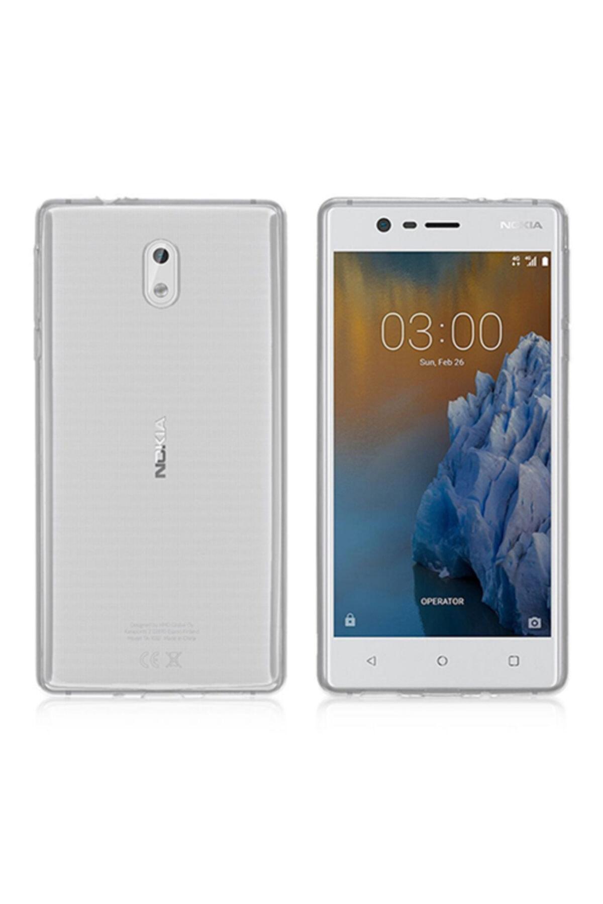 Nokia 3 Kılıf Soft Silikon Şeffaf Arka Kapak 1