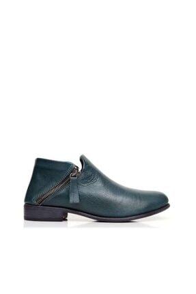 BUENO Shoes Çift Fermuarlı Yakma Hakiki Deri Kadın Düz Bot 9p1709