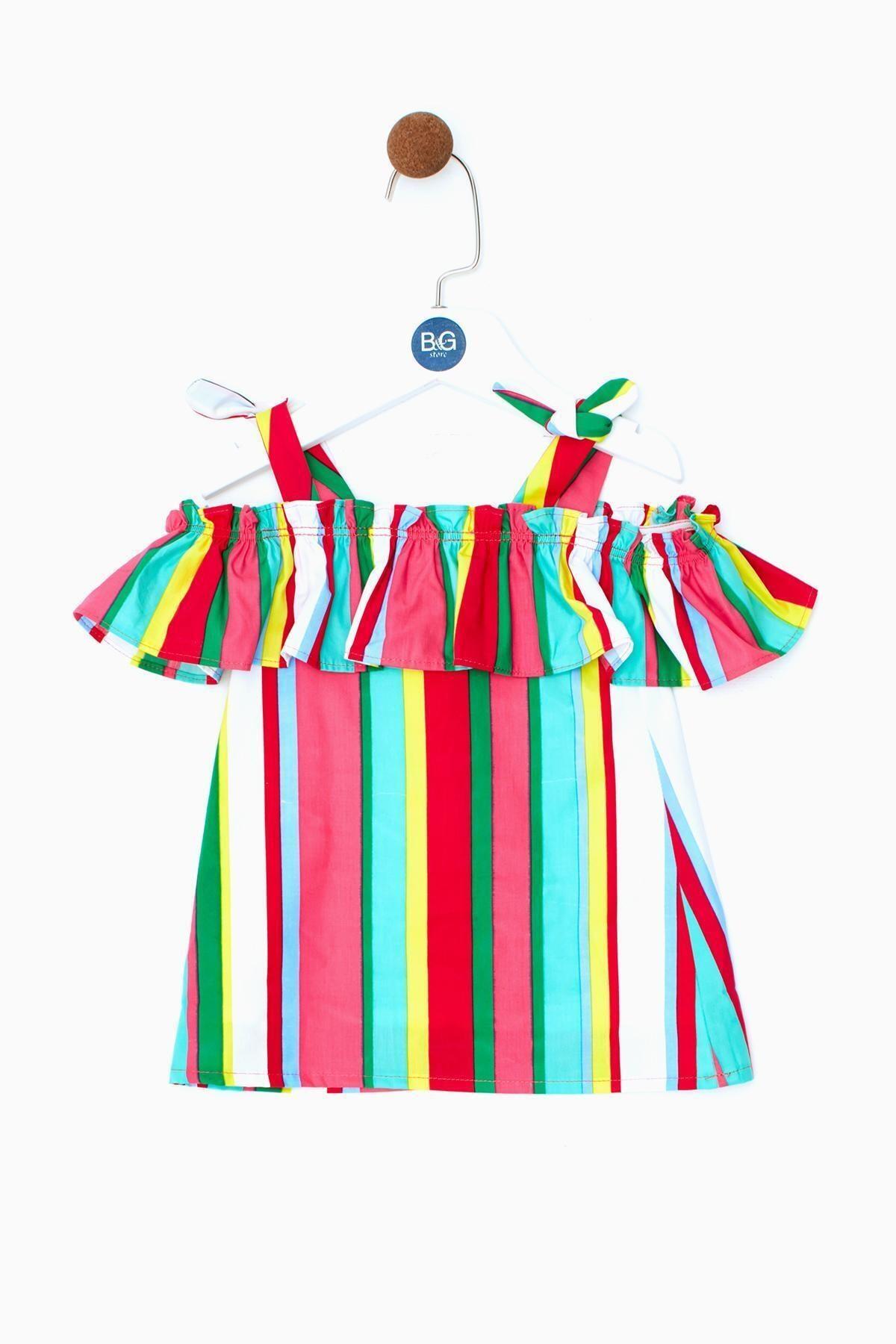 BG Baby Kız Bebek Çizgili Elbise 19ss0bg2911 1