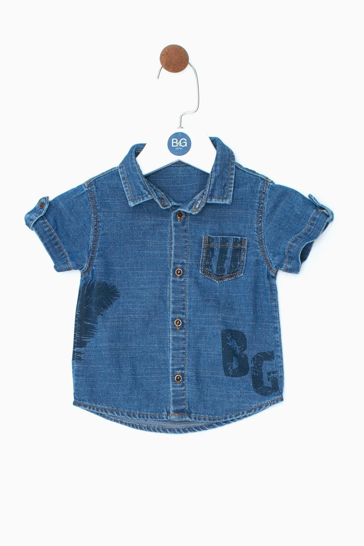 BG Baby Erkek Bebek Jean Gömlek 19ss0bg1601 1