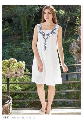 Eros Esk21634 Kalın Askılı Elbise - - Görsel Rengi - 42