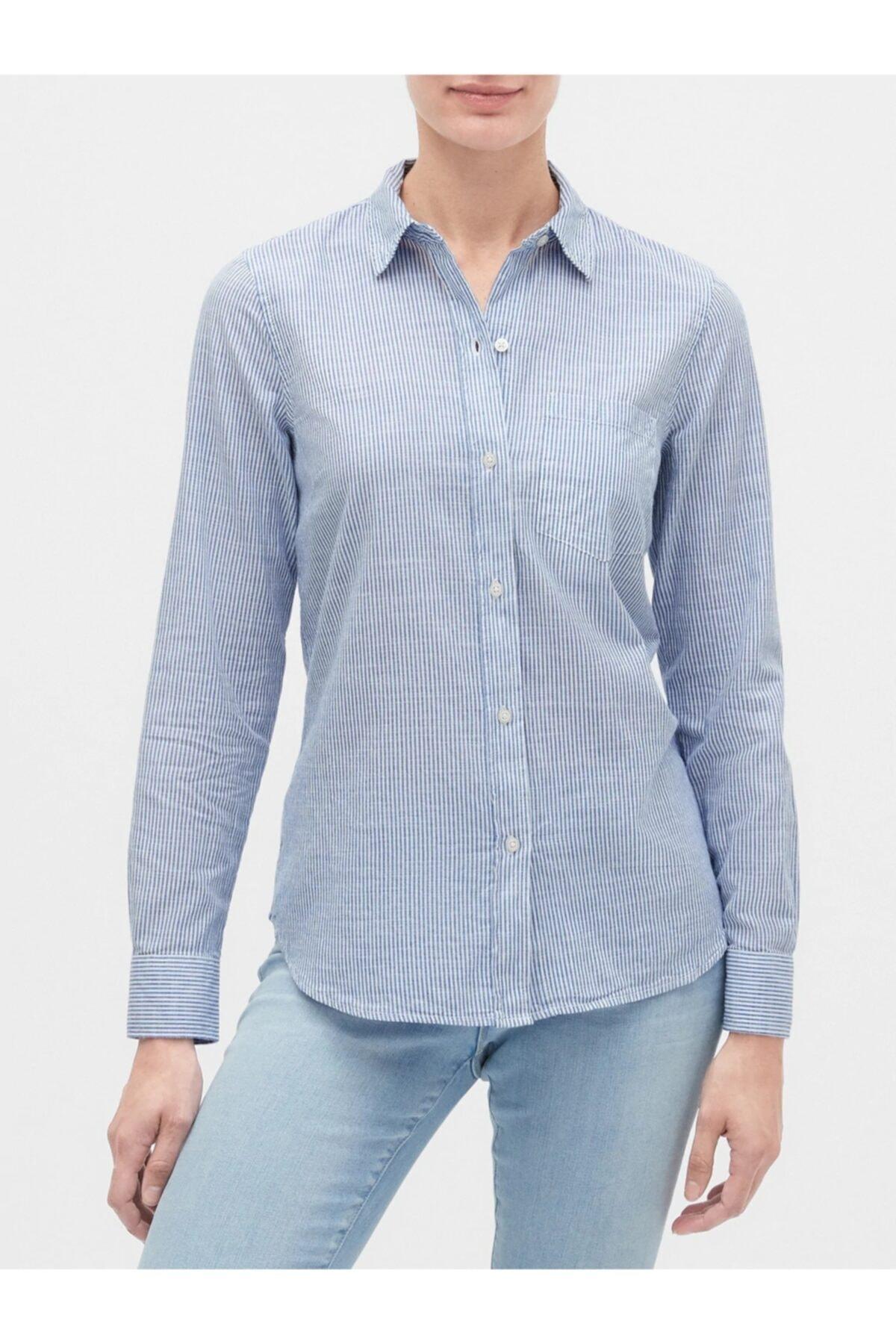 GAP Çizgili Uzun Kollu Gömlek 1