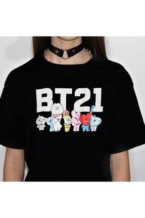 Köstebek K-pop Bts Bt21 Unisex Siyah  T-shirt