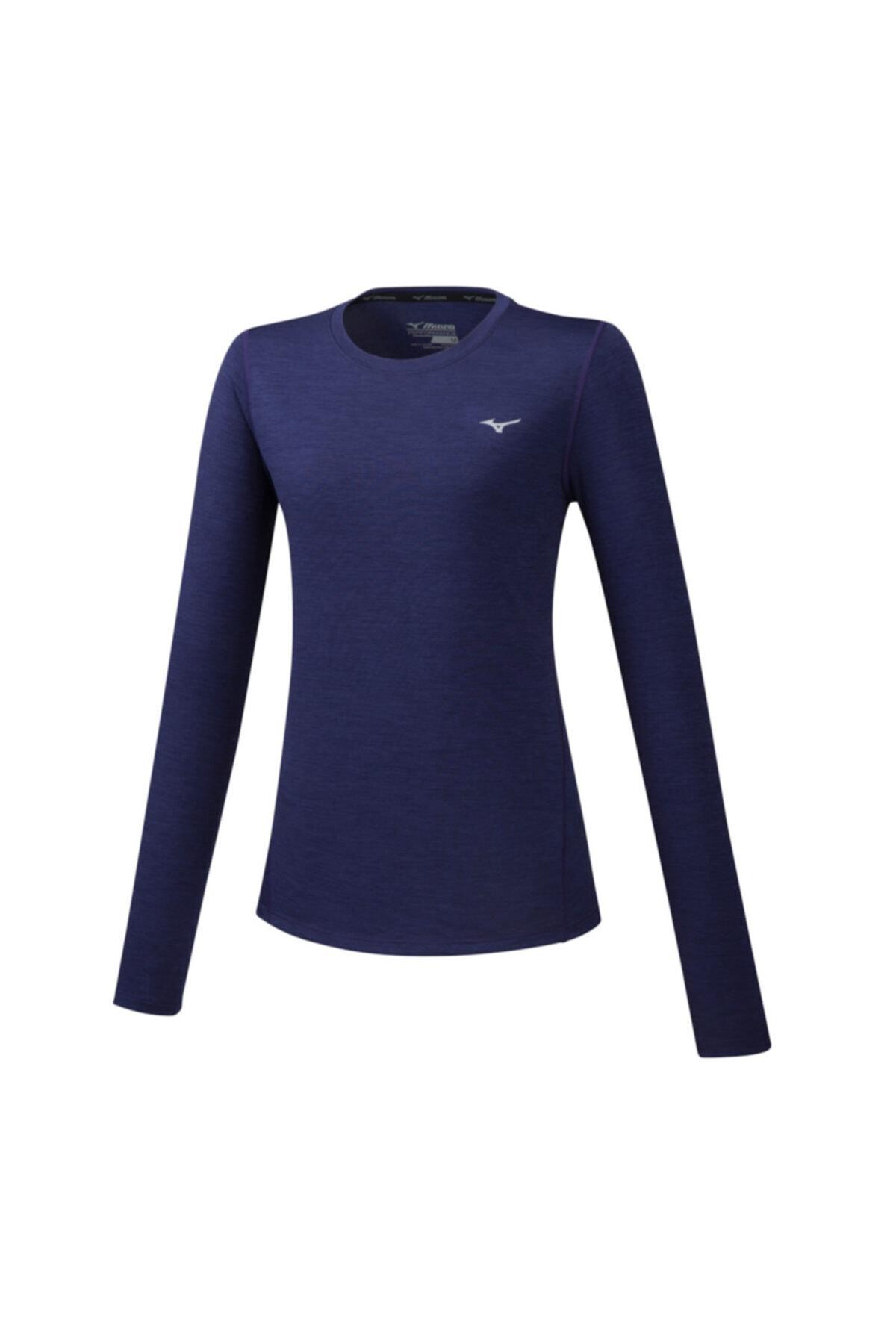 MIZUNO Impulse Core Ls Tee Kadın T-shirt Lacivert 1