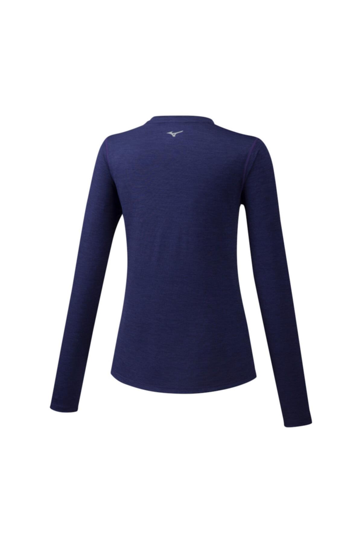 MIZUNO Impulse Core Ls Tee Kadın T-shirt Lacivert 2