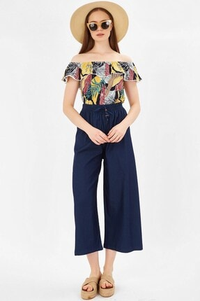 Arma Life Madonna Yaka Bluz - Tropikal Çiçek