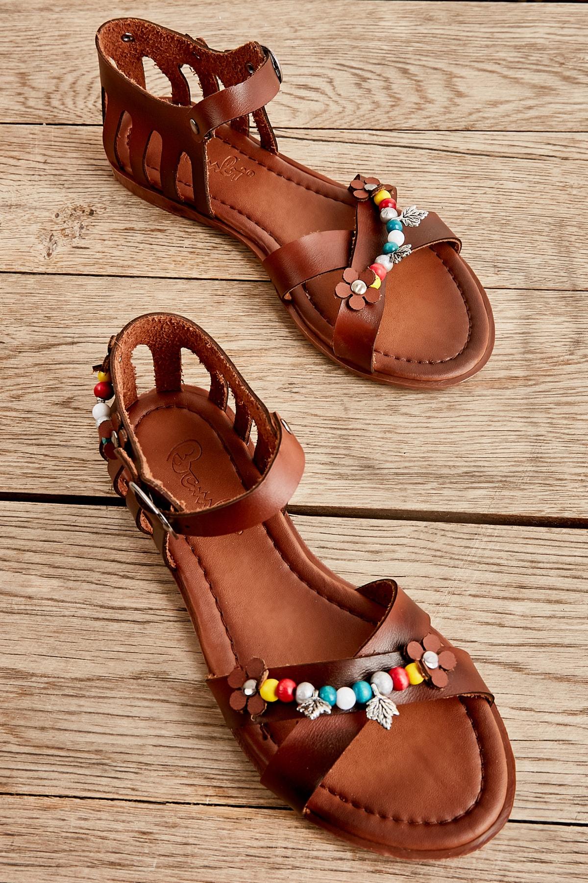 Bambi Kahve Kadın Sandalet L0529019509 1