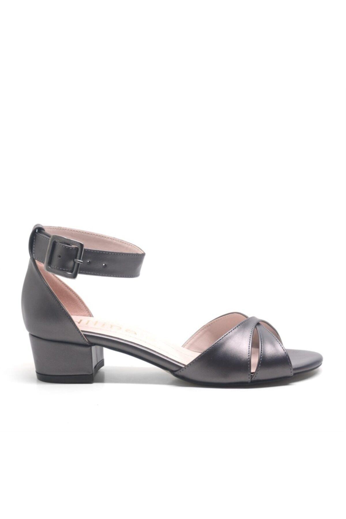 ALLİNA Füme Bilek Bantlı Alçak Topuk Kadın Ayakkabı 2
