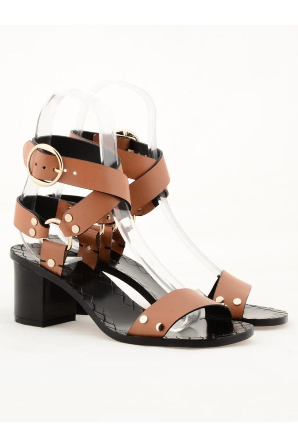 Nursace Hakiki Deri Klasik Topuklu Ayakkabı Nsc19y-a57506 Quetto 1