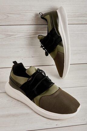 Bambi Haki Beyaz Erkek Sneaker L1805192882