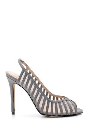 Derimod Kadın Süet Deri Topuklu Ayakkabı