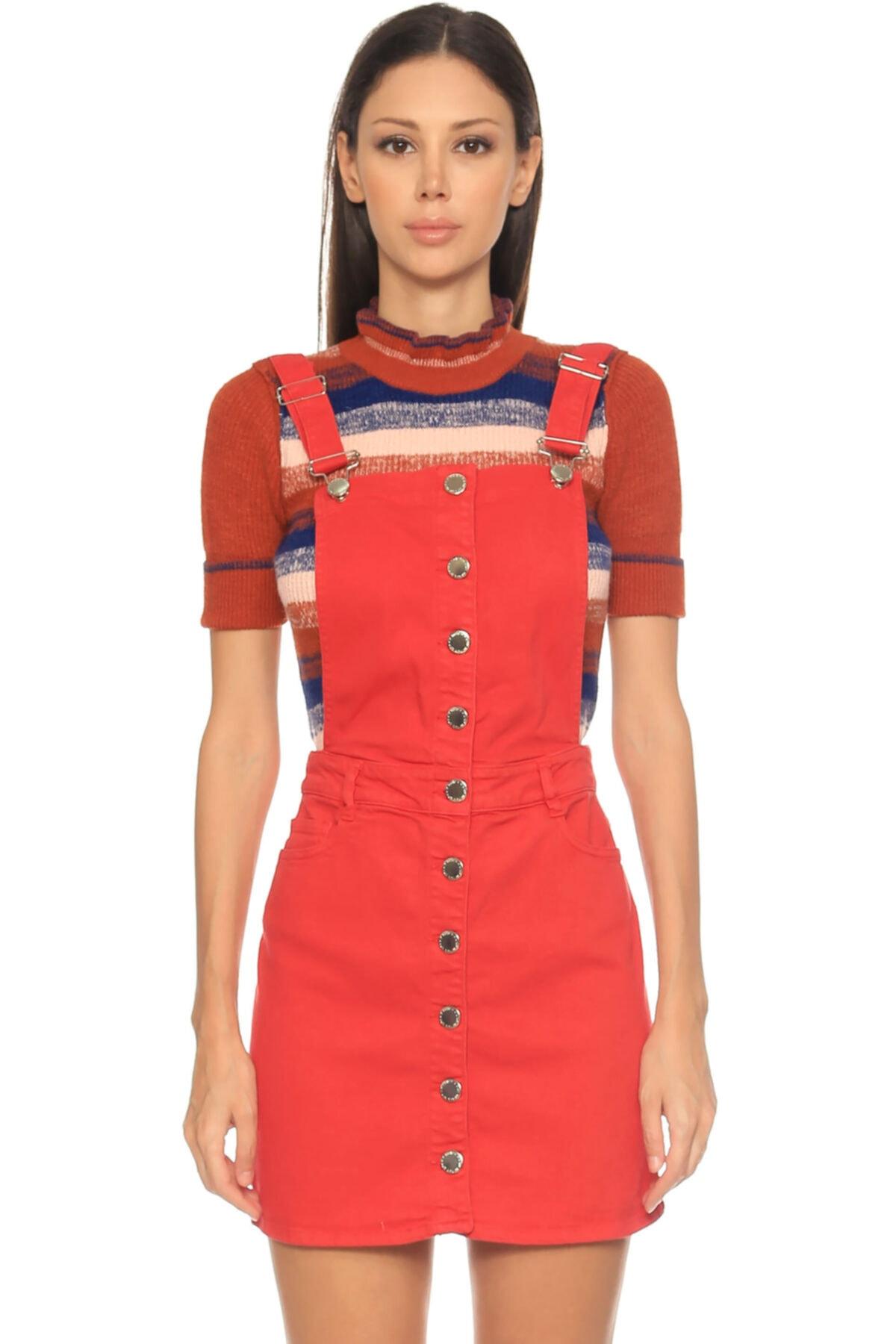Maje Turuncu Elbise 2