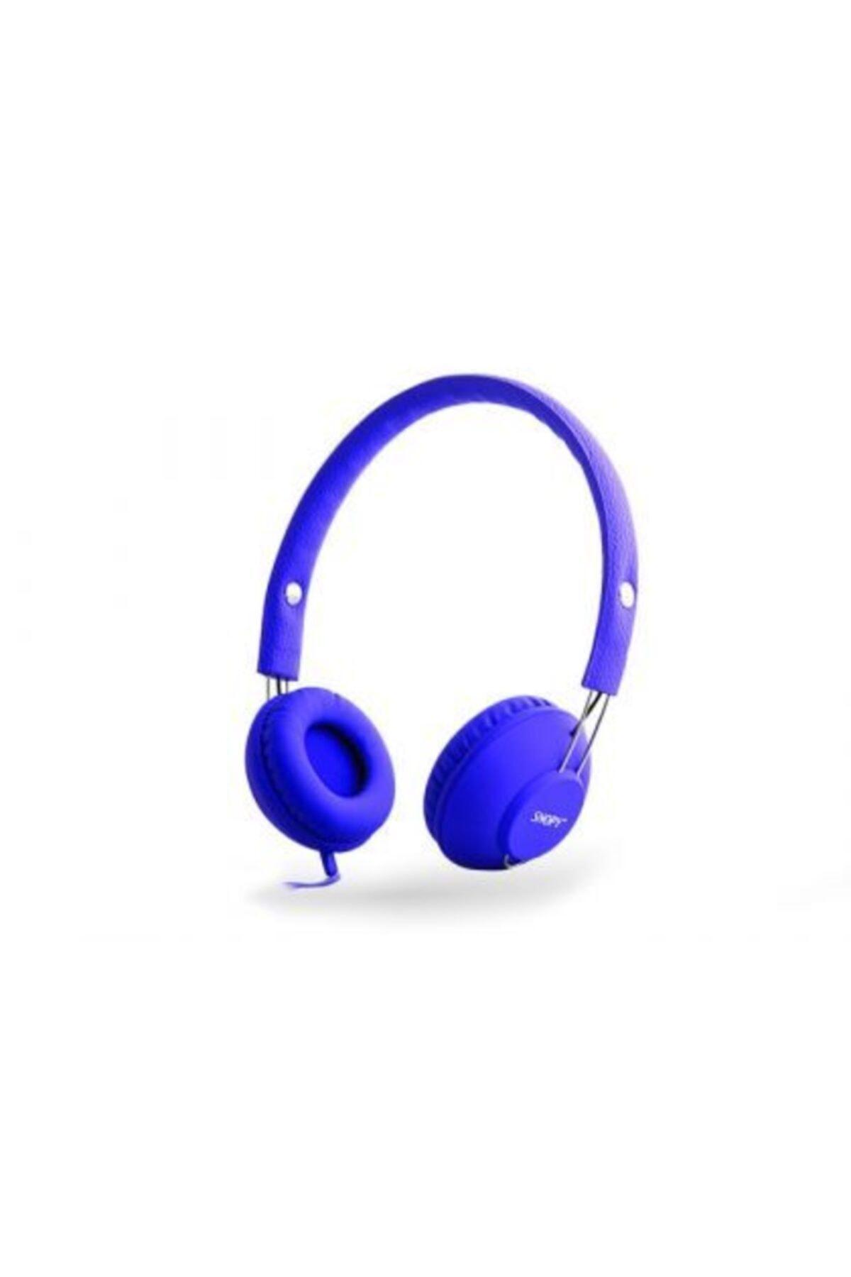 Snopy Sn-933 Mobil Telefon Uyumlu Rubber Mavi Mikrofonlu Kulaklık 1