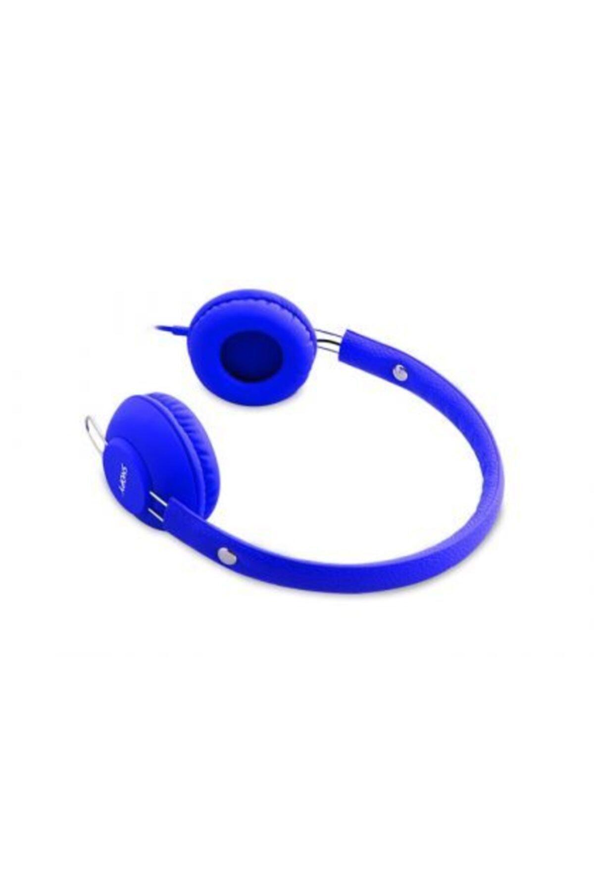 Snopy Sn-933 Mobil Telefon Uyumlu Rubber Mavi Mikrofonlu Kulaklık 2