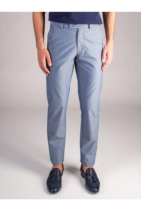Dufy Lacivert Armür Oxford Erkek Pantolon - Regular Fıt