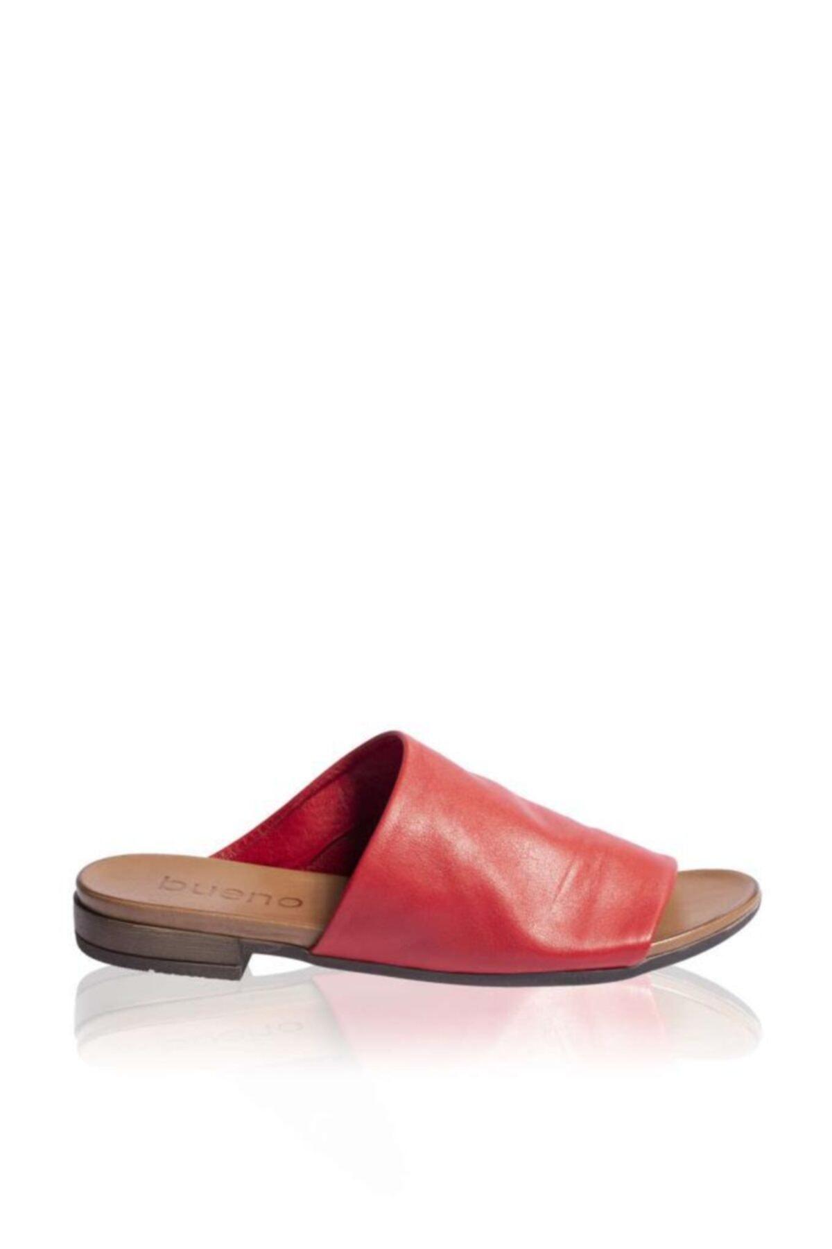 BUENO Shoes Önden Açık Hakiki Deri Kadın Düz Terlik 9n0204 1