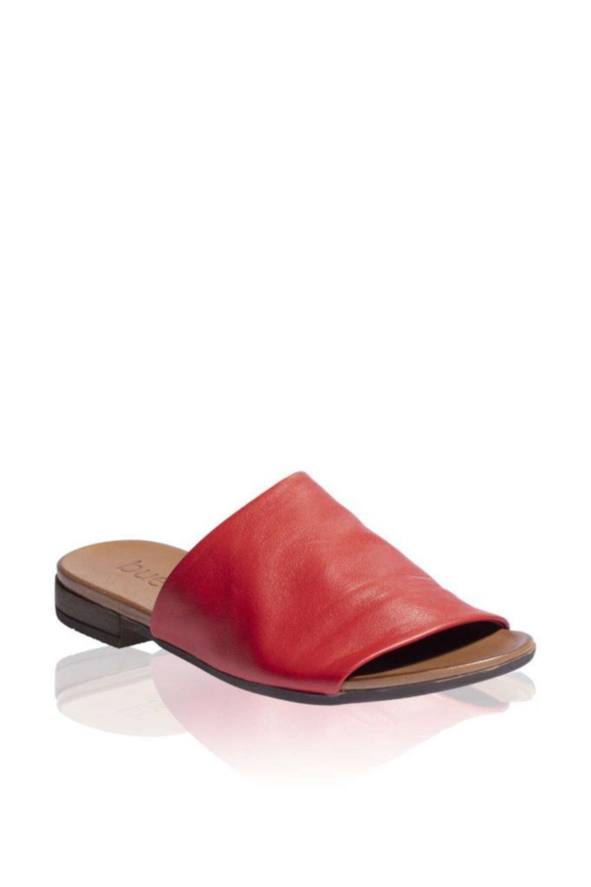 BUENO Shoes Önden Açık Hakiki Deri Kadın Düz Terlik 9n0204 2