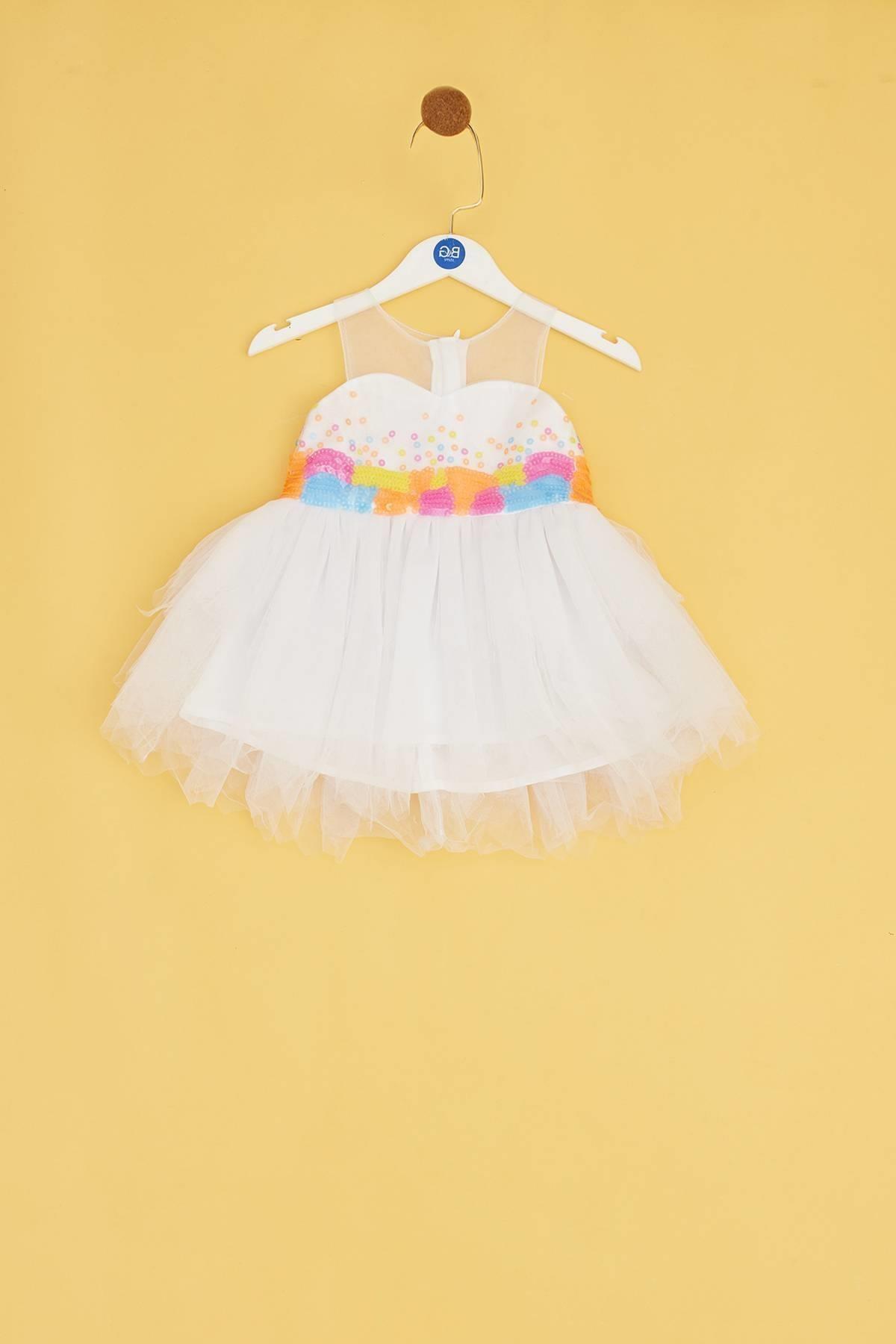 BG Baby Kız Bebek Beyaz Elbise 1