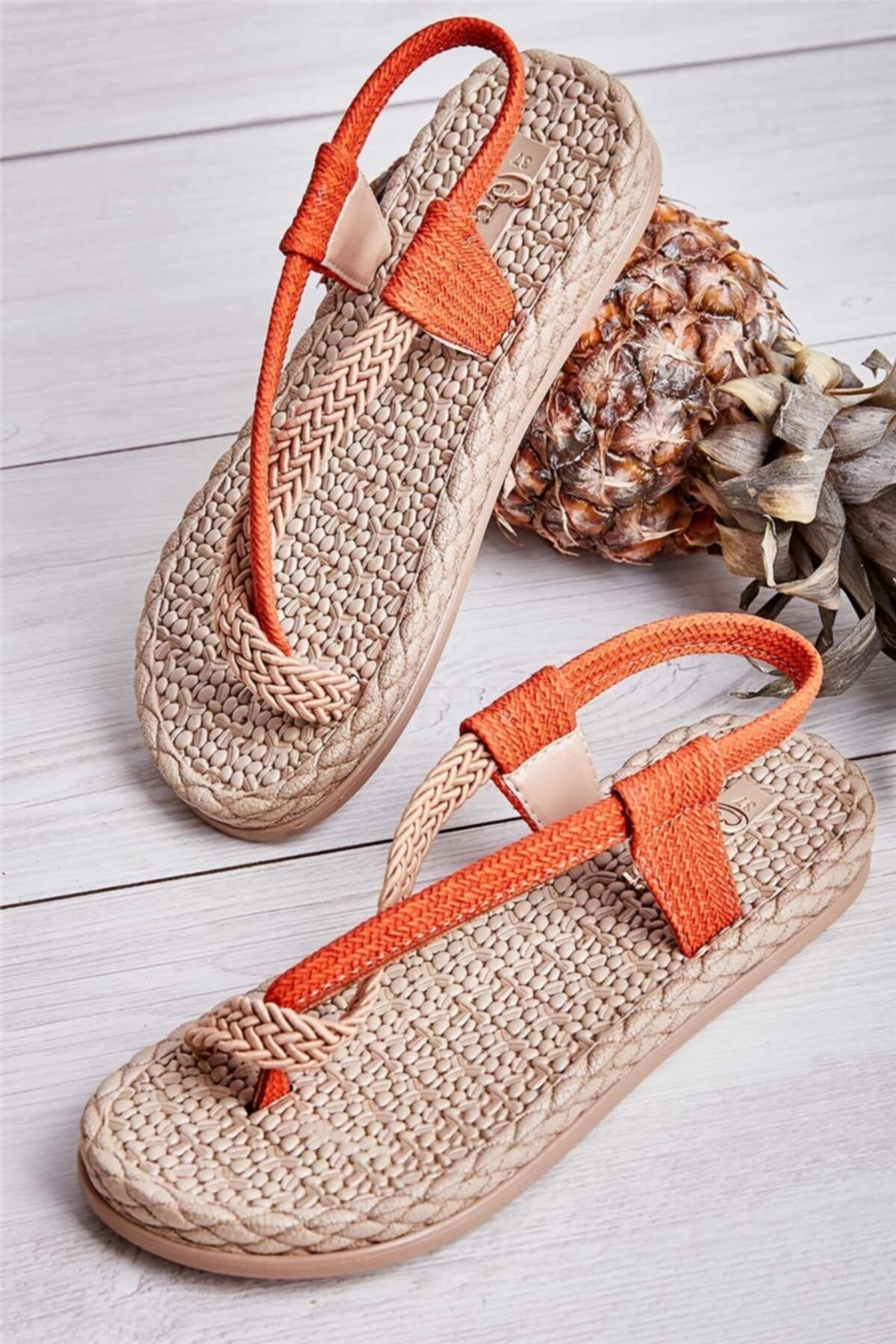 Bambi Turuncu Kadın Sandalet L0823130016 2