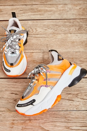 Bambi Gri Turuncu Kadın Sneaker L0662107022