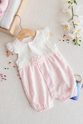Babymod Dantelli Çıt Çıtlı Kız Bebek Tulum