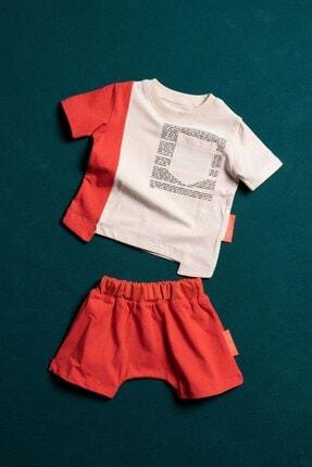 Moi Noi Parçalı Bebek Şortlu Takım Mercan