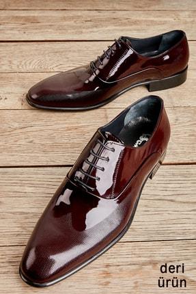 Bambi Bordo Rugan Erkek Klasik Ayakkabı L1587970508