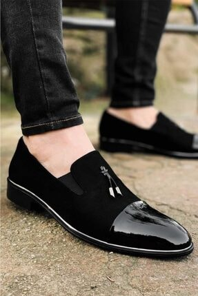 TAMBOĞA AYAKKABI Yarım Süet Lastikli Rugan Klasik Erkek Ayakkabı