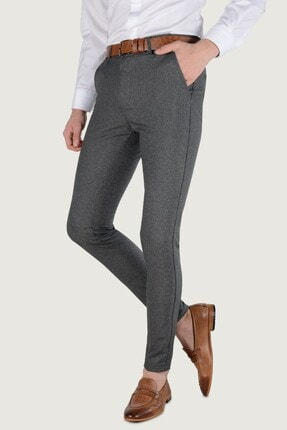 Terapi Men Erkek Slim Fit Keten Pantolon 20k-2200260 Antrasit