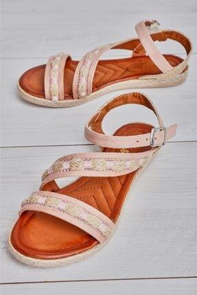 Bambi Pudra Kadın Sandalet L0578202265