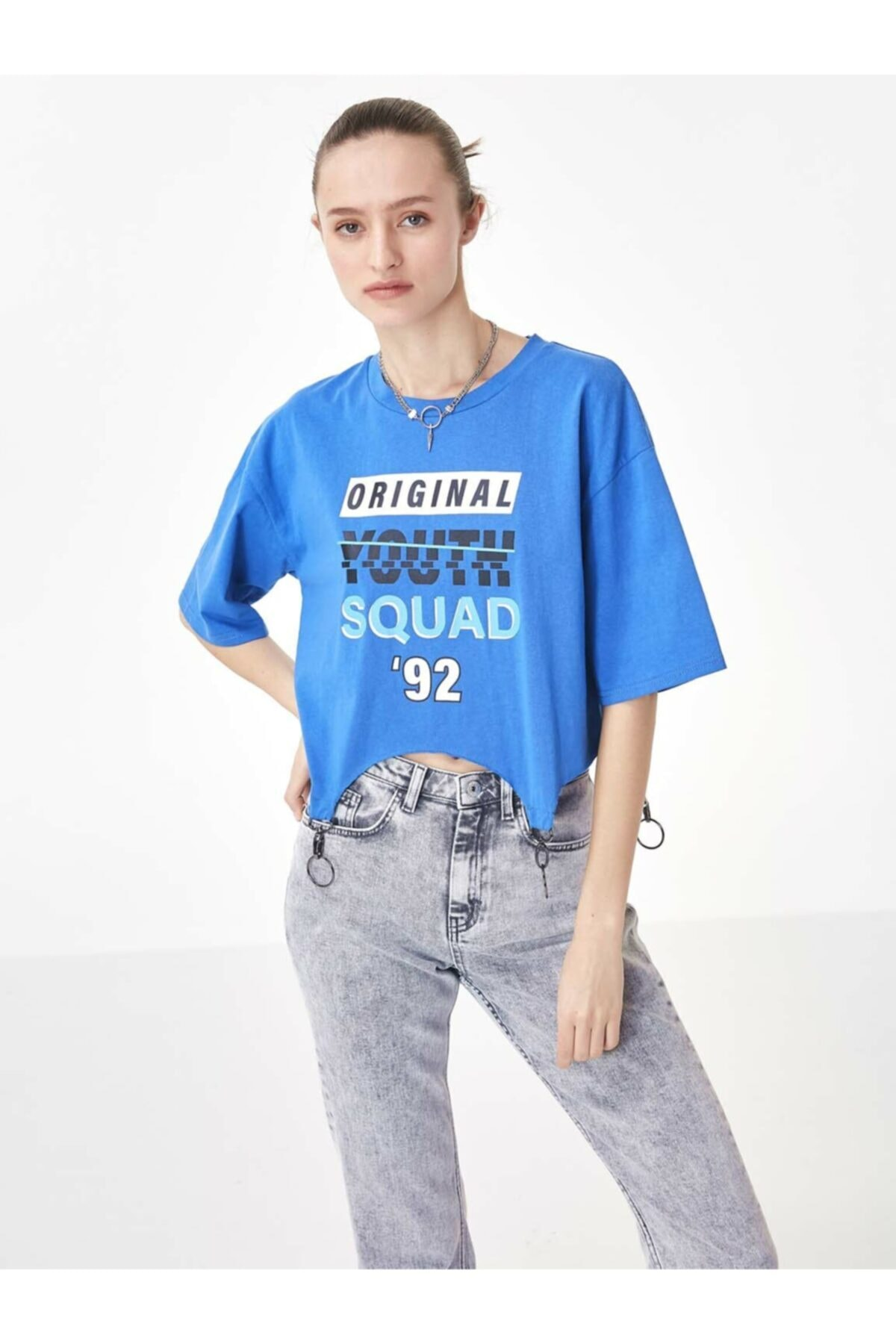 Twist Asimetrik Kesim Tshirt 1