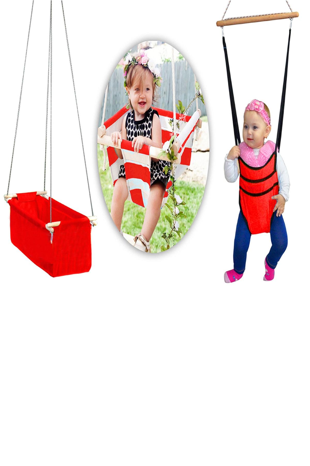 Bundera Eko Üçlü Set Bebek Hamak Beşik Hoppala Zıpzıp Yürüteç Asmalı Salıncak Çingene Beşiği Takımı 1
