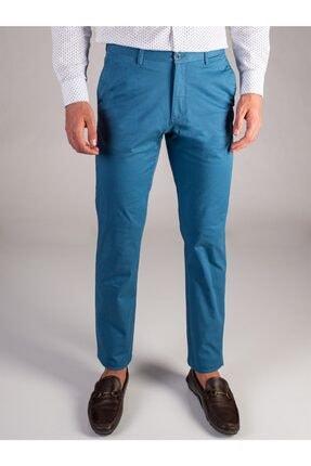 Dufy Açık Petrol Düz Sık Dokuma Erkek Pantolon - Regular Fıt