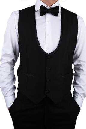 Kravatkolik Siyah Renk Damat Yeleği Ylk01