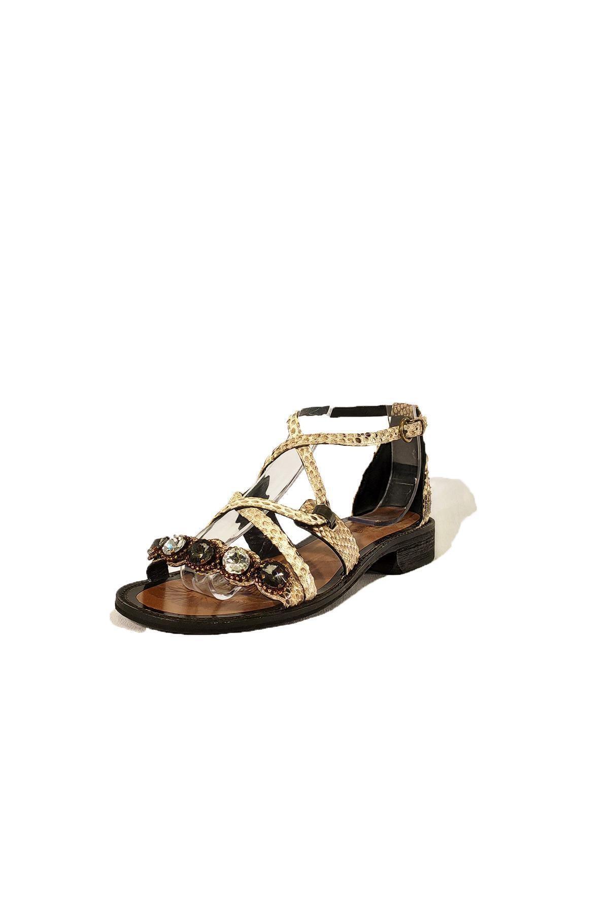 Nursace Hakiki Deri Sandalet Nsc19y-a08248 1
