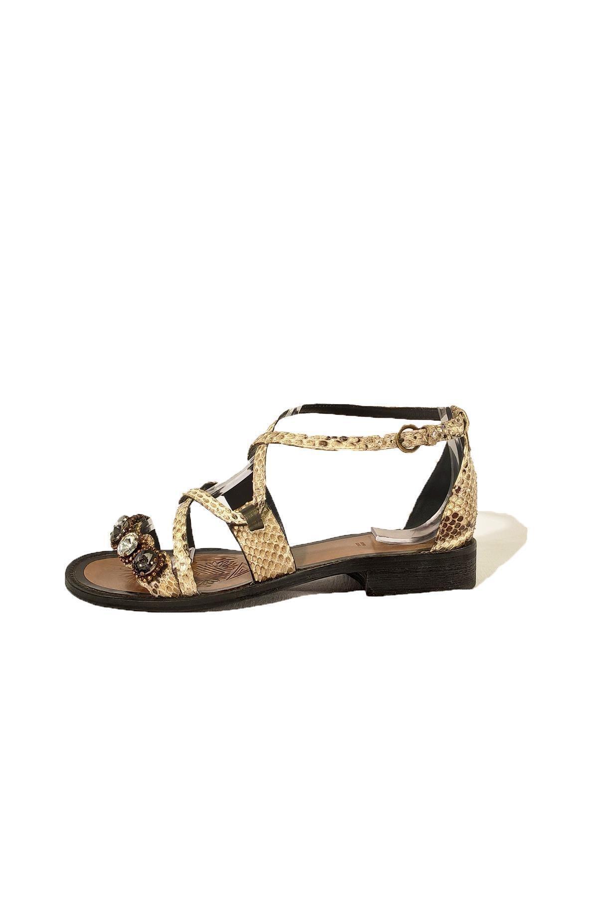 Nursace Hakiki Deri Sandalet Nsc19y-a08248 2