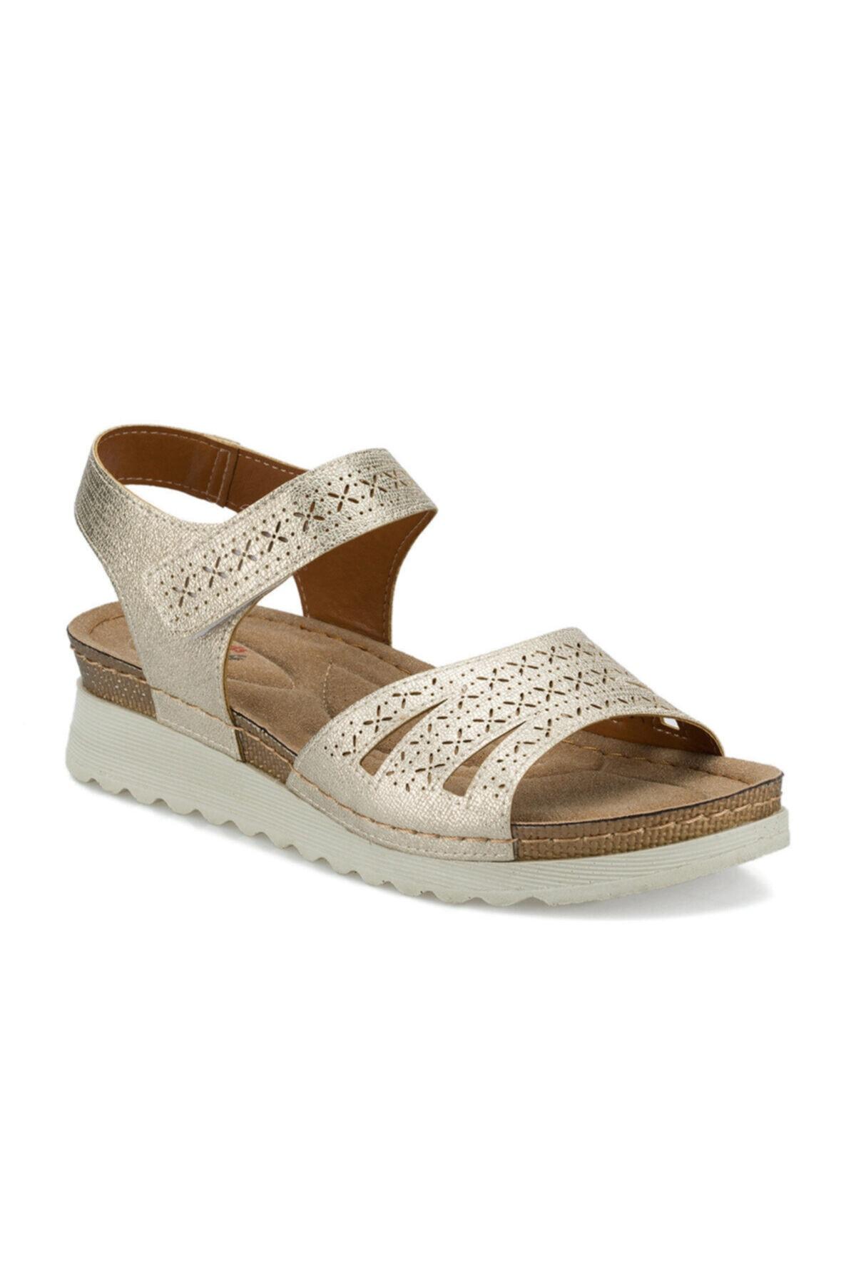 Polaris 161167.Z Altın Kadın Sandalet 100509628 1