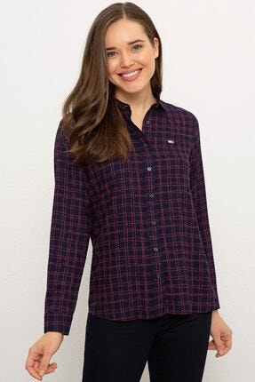 U.S. Polo Assn. Lacivert Kadın Dokuma Gömlek