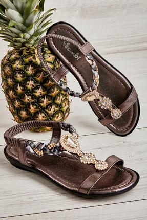 Bambi Platın Kadın Sandalet L0625011378
