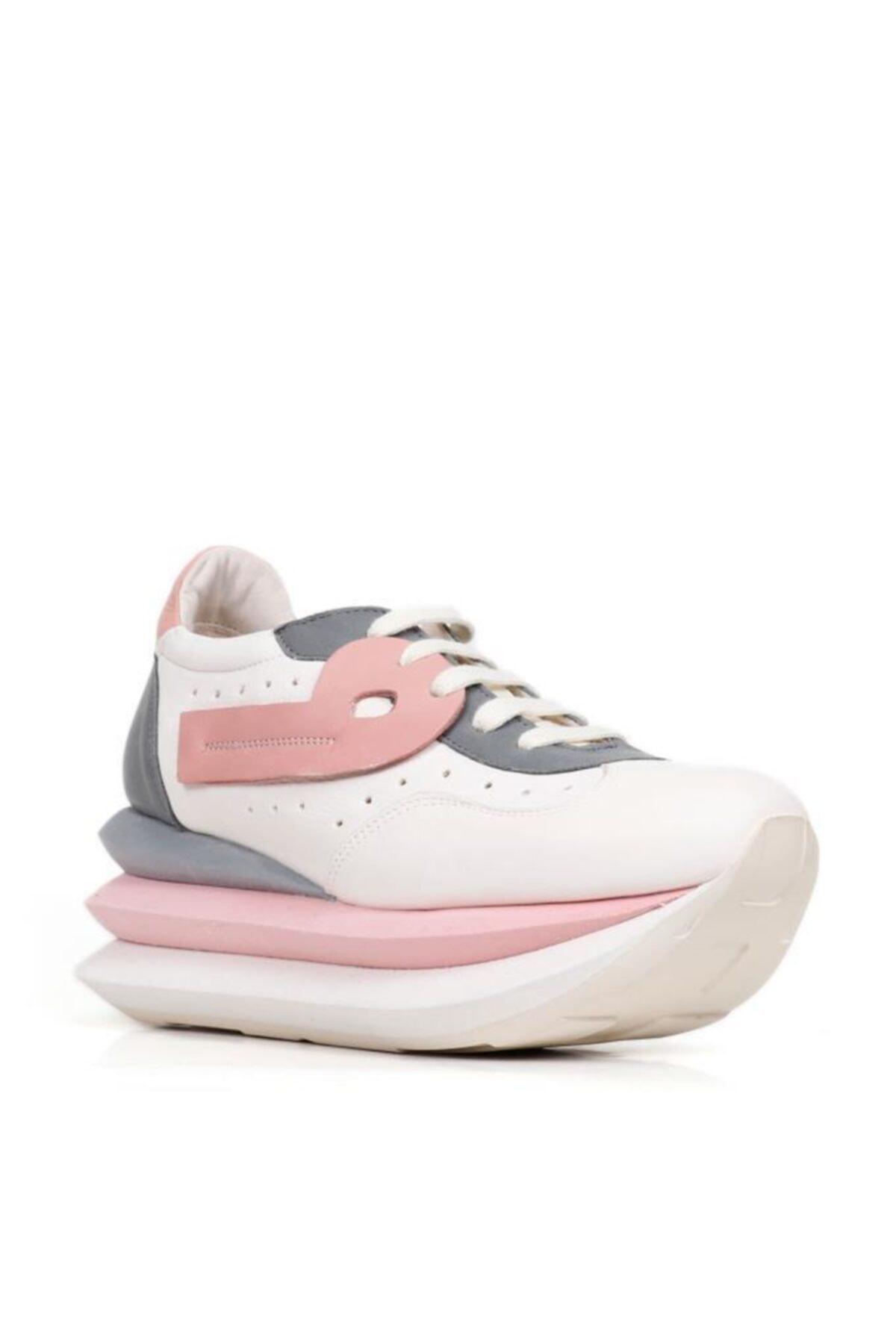 BUENO Shoes Hakiki Deri File Detaylı Bağcıklı Kadın Spor Ayakkabı 20wq10400 2