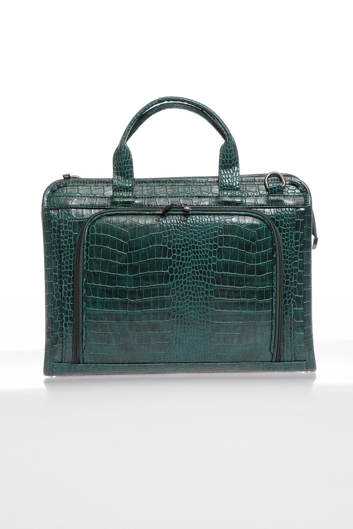 Sergio Giorgianni Luxury Sg071219 Yeşil Unisex Evrak Çantası 1