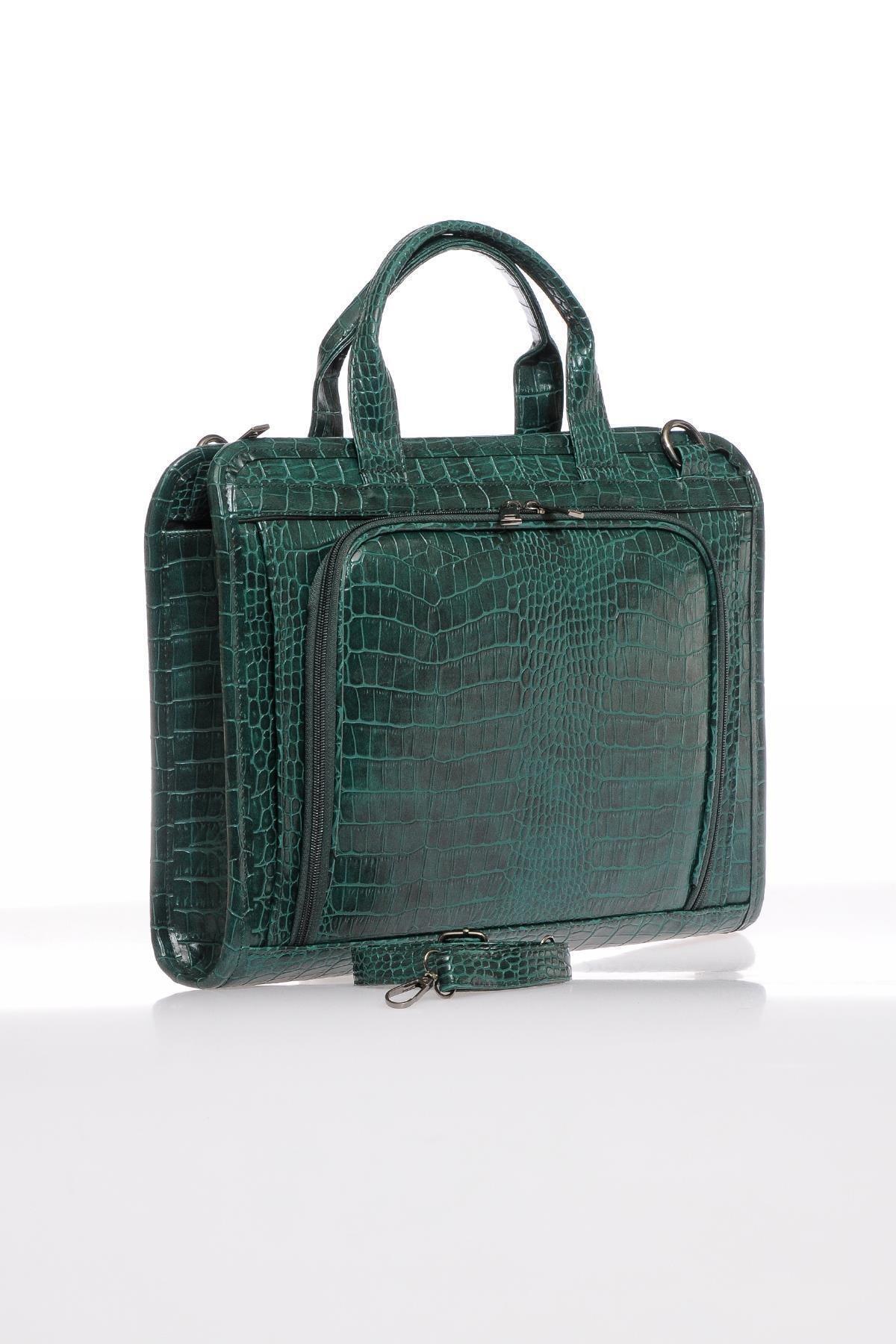 Sergio Giorgianni Luxury Sg071219 Yeşil Unisex Evrak Çantası 2