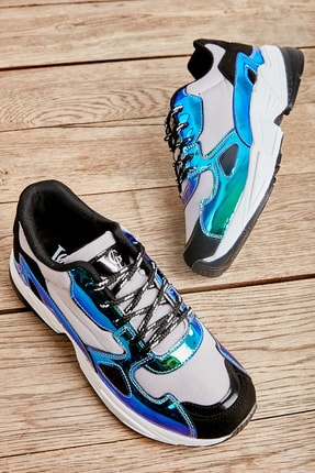 Bambi Gri/laci/siyah Kadın Sneaker L0613626022